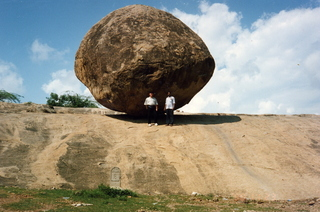 15 35o. Satish-Geeta wedding in Madras, India - big rock in Mahabalipuram