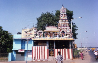 38 35o. Satish-Geeta wedding in Madras, India - colorful temple