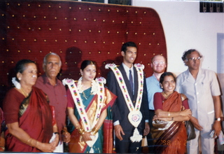 39 35o. Satish-Geeta wedding in Madras, India - wedding party with Adam