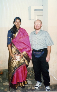 40 35o. Satish-Geeta wedding in Madras, India - wedding guest and Adam