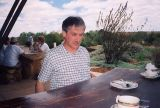 2002 eclipse trip -- Australian flies biting John Mason