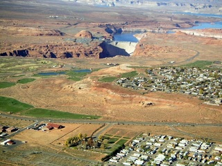 52 59p. Glen Canyon Dam - aerial