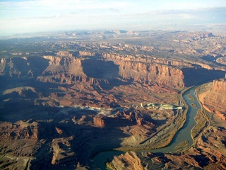 90 59p. Colorado River near Moab - aerial