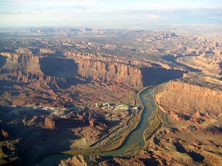 91 59p. Colorado River near Moab - aerial
