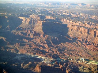 92 59p. Colorado River valley near Moab - aerial