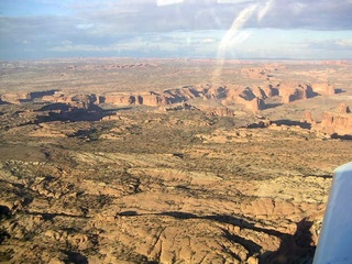 96 59p. Rocks near Moab - aerial