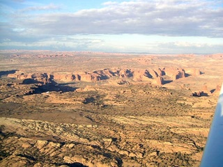 97 59p. Rocks near Moab - aerial