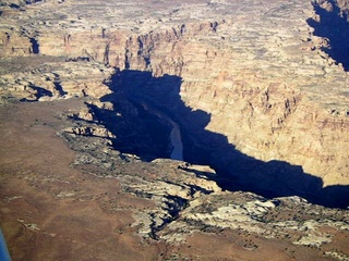 72 59p. Colorado River canyon - aerial