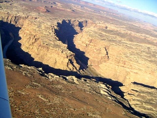 74 59p. Colorado River canyon - aerial