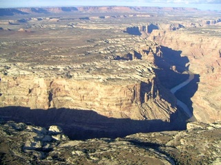 77 59p. Colorado River canyon - aerial
