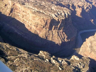 78 59p. Colorado River canyon - aerial