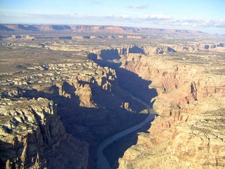 79 59p. Colorado River canyon - aerial