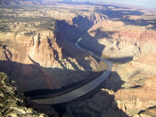 80 59p. Colorado River canyon - aerial