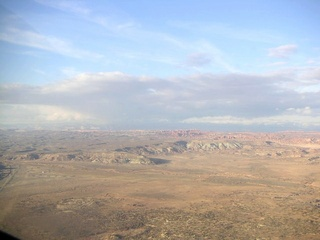 98 59p. Rocks near Moab - aerial