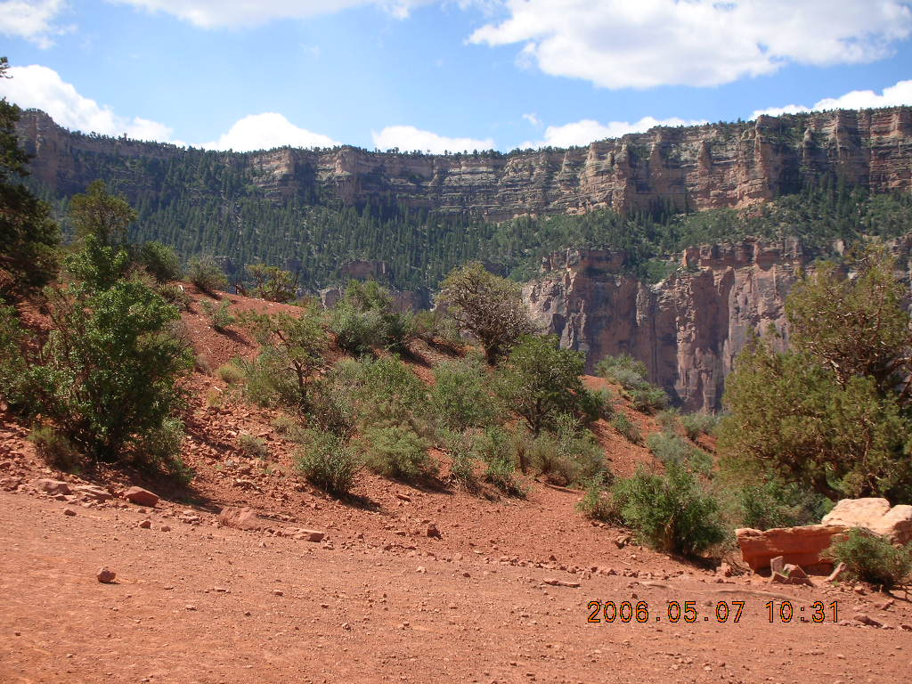 view from South Kaibab trail -- Ceder Ridge