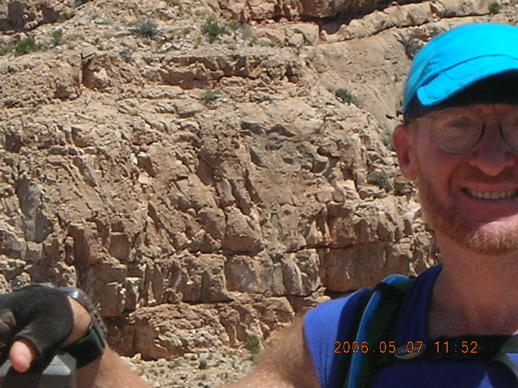 view from South Kaibab trail -- half of Adam's face