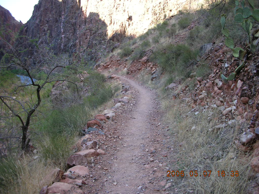 North Kaibab trail from Phantom Ranch