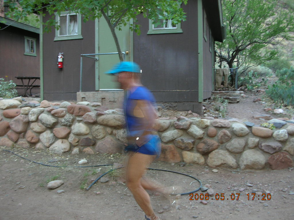 Phantom Ranch -- Adam running