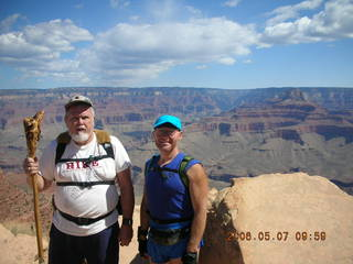 11 5t7. view from South Kaibab trail -- Panorama Point -- Greg and Adam