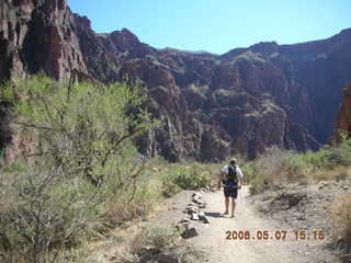 133 5t7. trail to Phantom Ranch -- Greg hiking