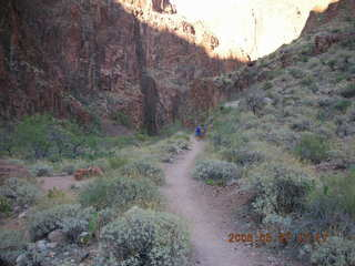 171 5t7. North Kaibab trail from Phantom Ranch -- Adam running in the distance