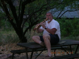Phantom Ranch -- Greg playing the flute