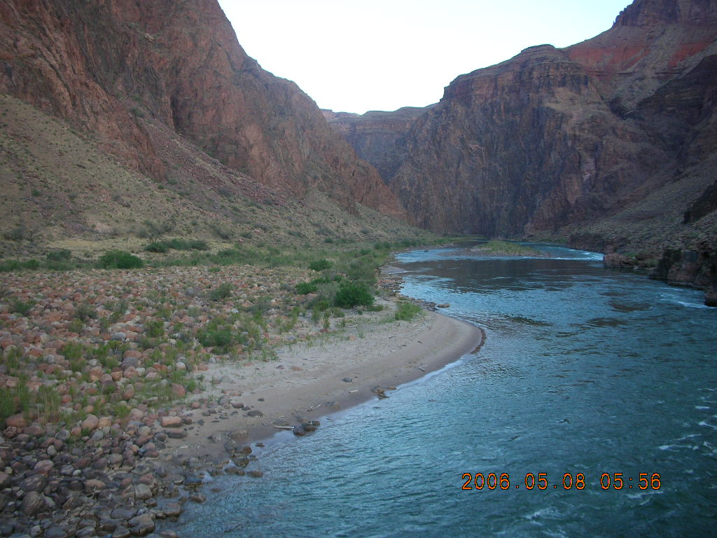 view from Bright Angel trail -- Mightly Colorado River