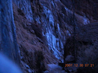 1 6cw. Zion National Park - low-light, pre-dawn Virgin River walk