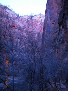 3 6cw. Zion National Park - low-light, pre-dawn Virgin River walk
