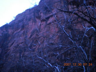 6 6cw. Zion National Park - low-light, pre-dawn Virgin River walk