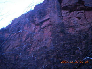 8 6cw. Zion National Park - low-light, pre-dawn Virgin River walk