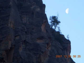 63 6cw. Zion National Park- Observation Point hike - moon