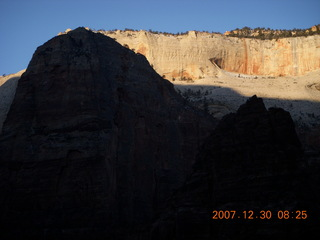 65 6cw. Zion National Park- Observation Point hike - Angels Landing silhouette