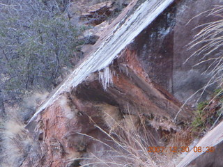 71 6cw. Zion National Park- Observation Point hike - ice