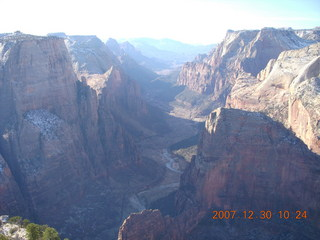 123 6cw. Zion National Park- Observation Point hike - view from the top
