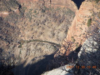 154 6cw. Zion National Park- Observation Point hike - view from the top