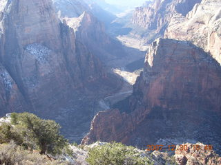 161 6cw. Zion National Park- Observation Point hike - view from the top