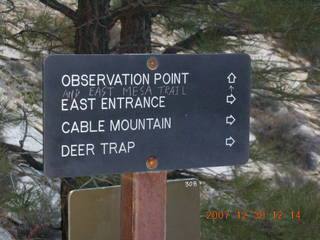195 6cw. Zion National Park- Observation Point hike (old Nikon Coolpix S3) - sign