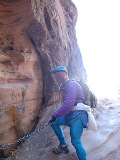 311 6cw. Zion National Park- Hidden Canyon hike - Adam