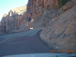 325 6cw. Zion National Park - driving on the road