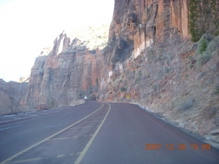 326 6cw. Zion National Park - driving on the road