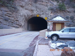 329 6cw. Zion National Park - driving on the road - tunnel