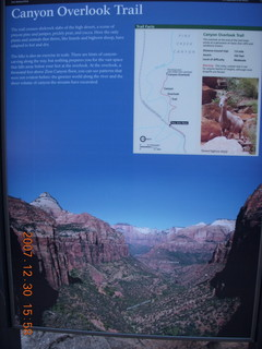 352 6cw. Zion National Park - Canyon Overlook hike - sign
