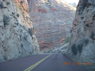 354 6cw. Zion National Park - driving on the road
