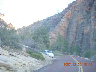 355 6cw. Zion National Park - driving on the road