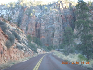 363 6cw. Zion National Park - driving on the road