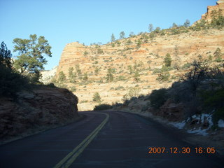 364 6cw. Zion National Park - driving on the road