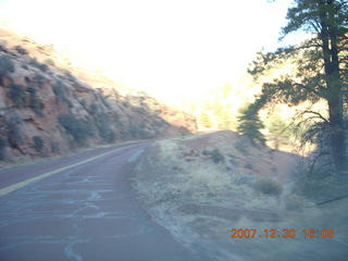 365 6cw. Zion National Park - driving on the road