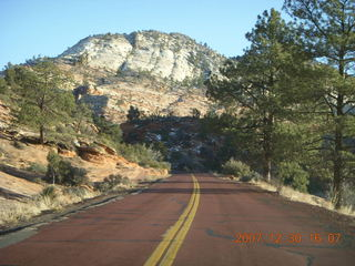 370 6cw. Zion National Park - driving on the road