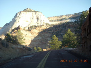 371 6cw. Zion National Park - driving on the road